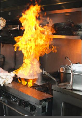 Restaurant fire hazard